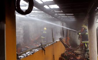 Incêndio destrói habitação em Febres