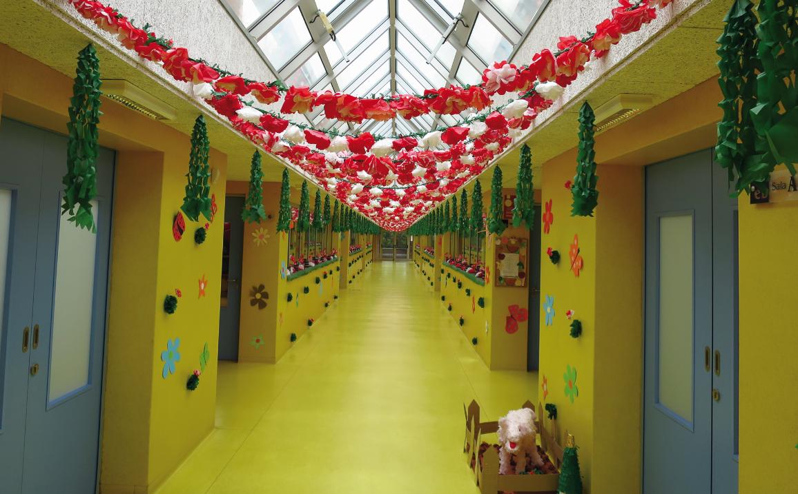 Polo Escolar colorido pela segunda edição da Festa da Flor