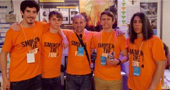 Smoke The Fire da ESOB na final de concurso de ciência espanhol