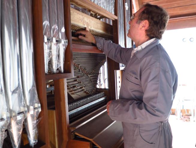 Igreja vai ter órgão ampliado  e mais rico em sonoridades