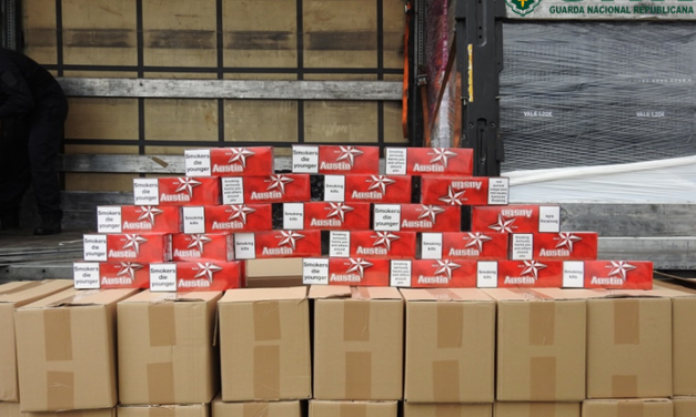 GNR apreende 2,24 milhões  de cigarros na área de serviço
