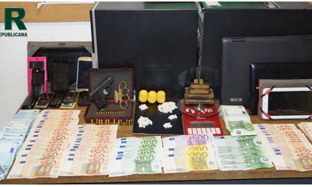 Águeda: Cinco detidos e apreendidos mais de 12 mil euros e 600 gramas de droga