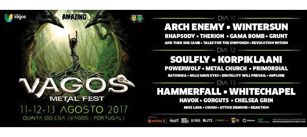 Vagos Metal Fest 2017 apoiado pelo Ministério do Ambiente