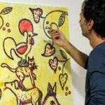 """À conversa com o artista Pedro d'Oliveira: """"""""É a infância que determina  muito do que pinto e o meu percurso"""""""