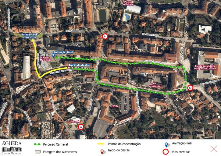 Carnaval: Percurso e medidas de segurança para o Corso Infantil de Águeda