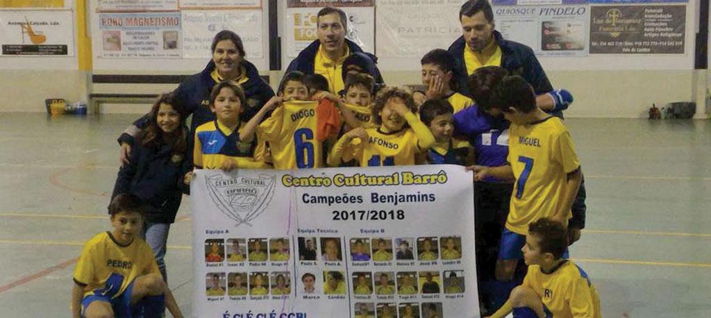 Benjamins do CC Barrô conquistam título distrital
