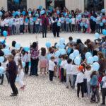 Cantanhede constrói laço humano no âmbito da Campanha Laço Azul
