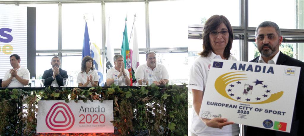 Anadia oficializa candidatura a Cidade Europeia do Desporto 2020