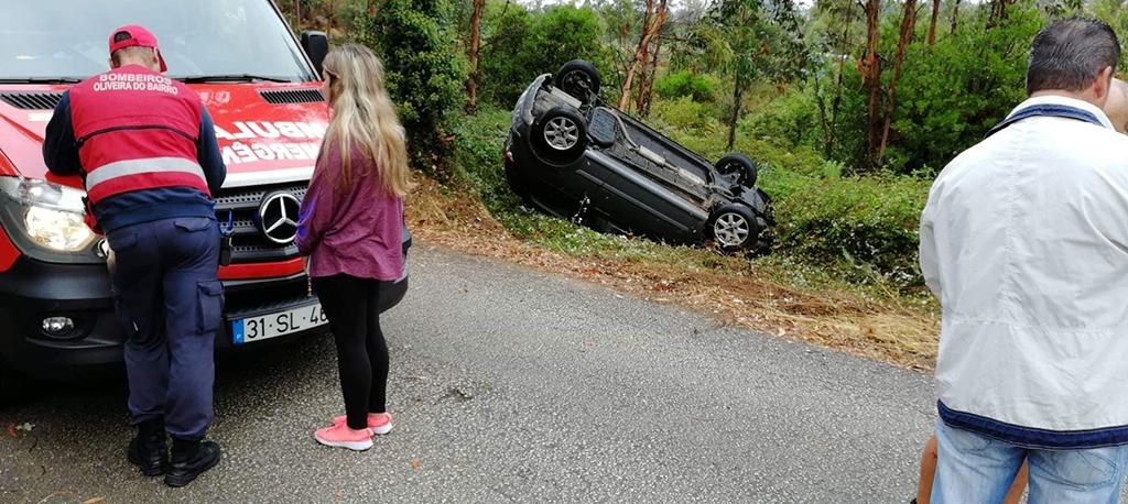 Oliveira do Bairro: Acidente aparatoso sem feridos