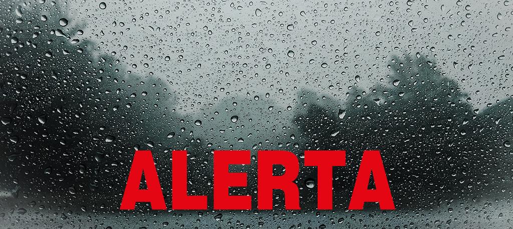 Alerta de mau tempo para a região