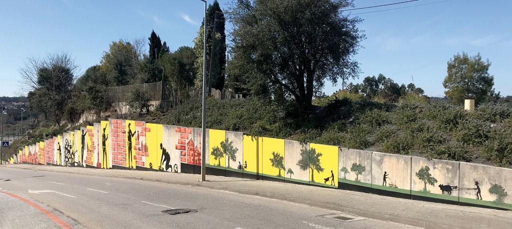 Oliveira do Bairro mostra dinâmica industrial e agrícola através de Arte Urbana