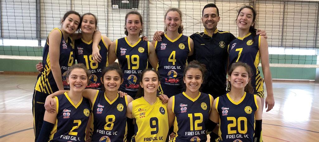 Cadetes femininos do FGVC em 1.º lugar