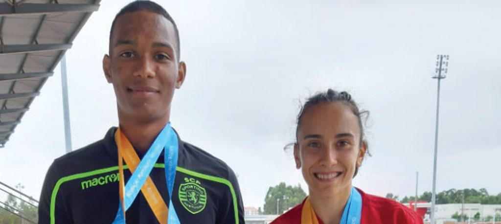 Carla Reis e Omar Elkhatib sagram-se campeões nacionais
