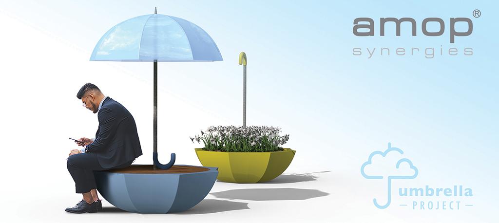 """AMOP cria """"Umbrella Project"""" para mobiliário urbano"""