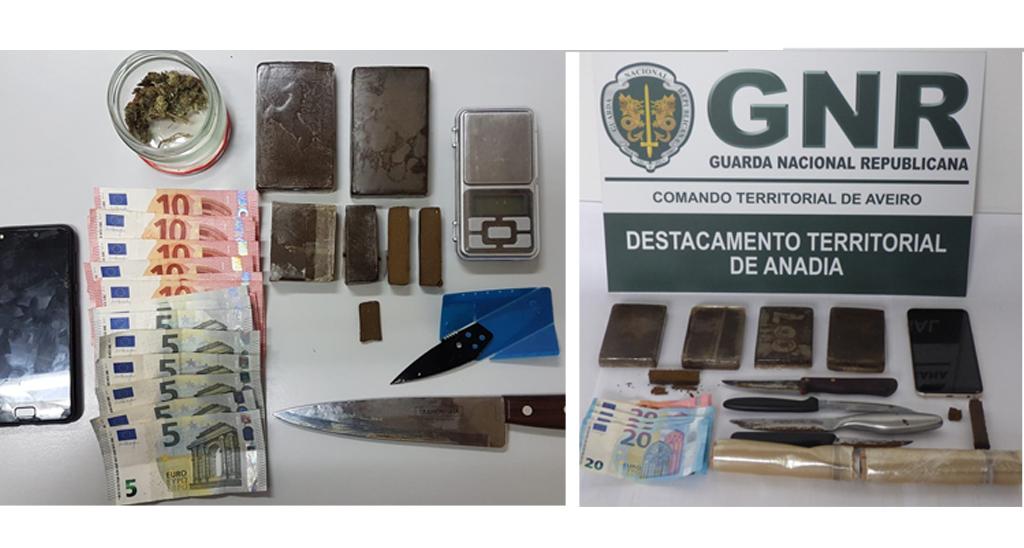 Detidos por tráfico de droga em Oliveira do Bairro e Anadia