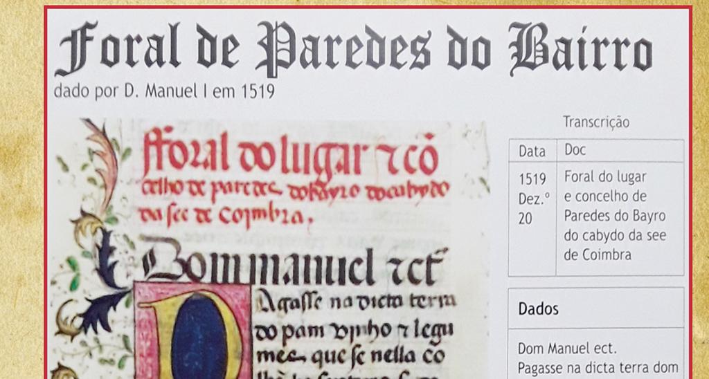 Paredes do Bairro: 500 anos de Foral Manuelino comemorados durante três dias