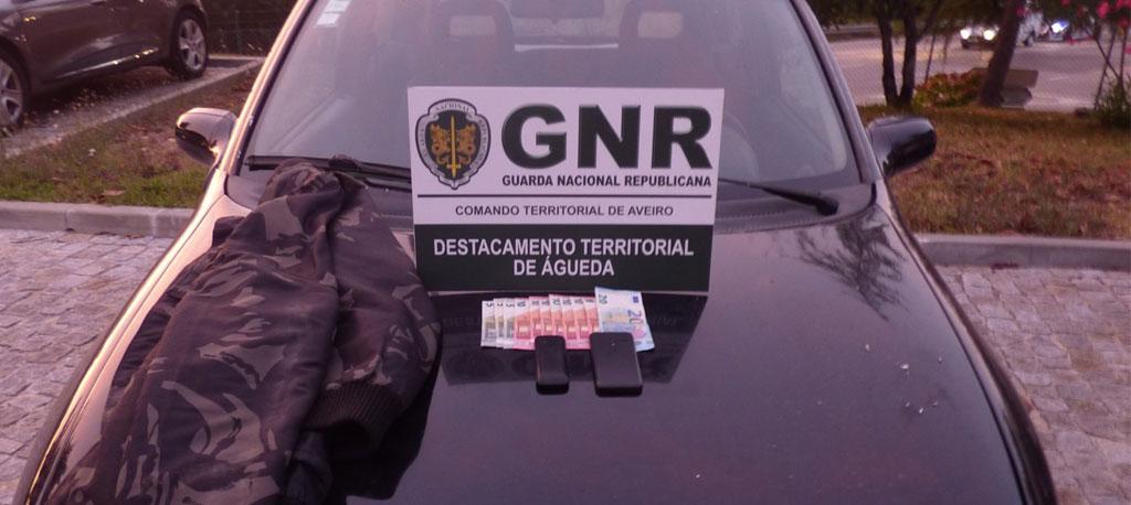 Águeda: GNR intercetou suspeitos de roubo a quatro gasolineiras