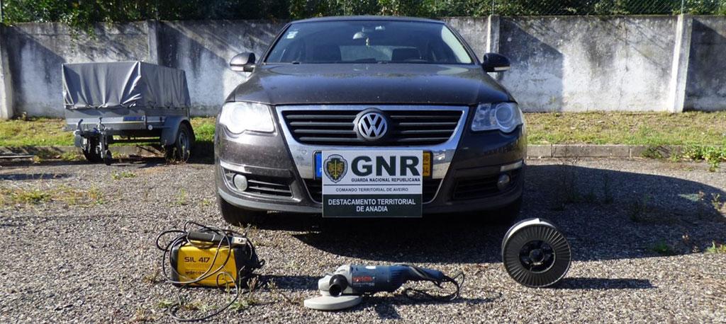 GNR recupera material roubado no concelho de Anadia