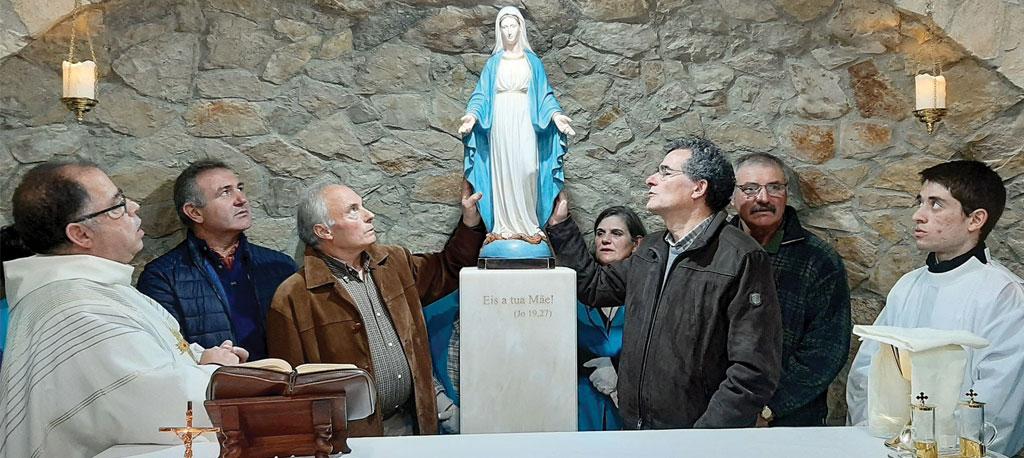 Junqueira (Moita): Pré-inauguração da Casa de Maria recebeu dezenas de fiéis