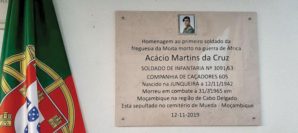 Moita: Homenagem ao soldado Acácio Cruz