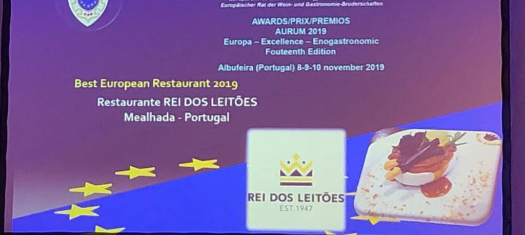 """Rei dos Leitões eleito """"melhor restaurante europeu de 2019"""""""