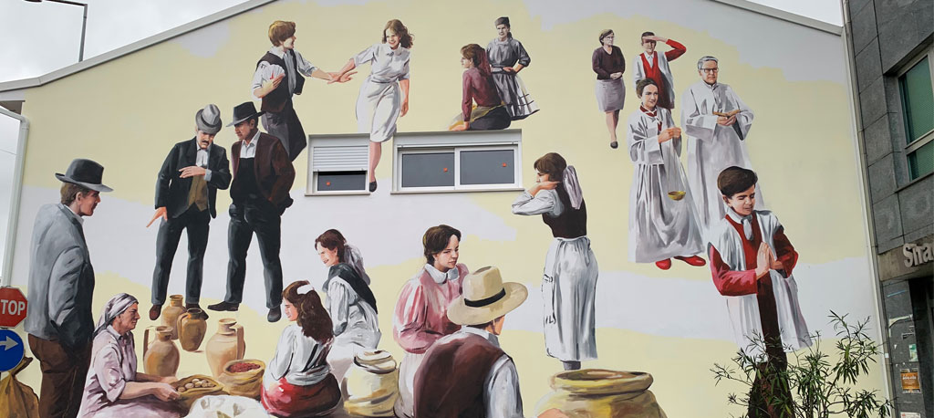Arte urbana retrata três grandes marcas da Palhaça