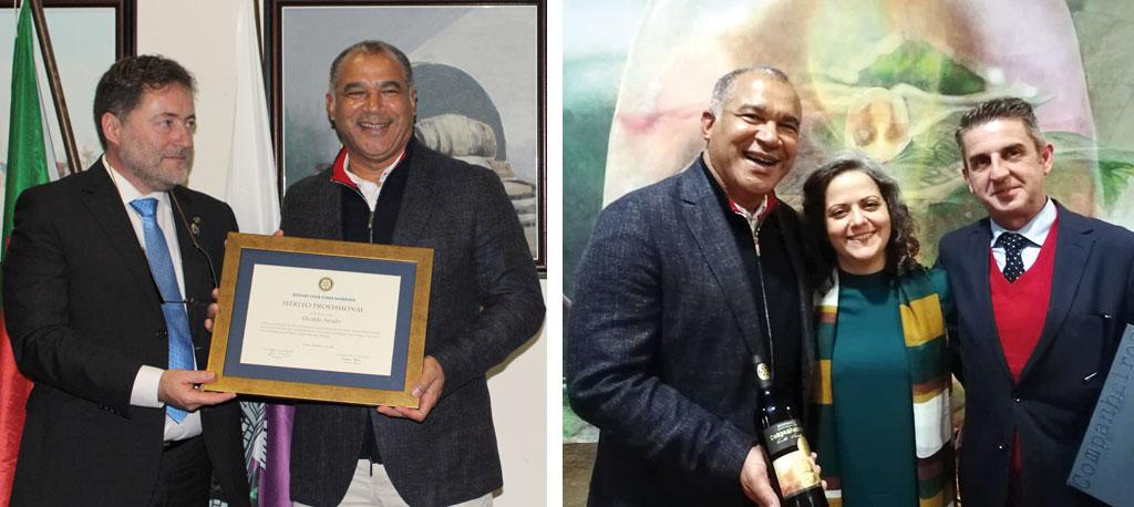 """Rotary Club Curia-Bairrada distingue enólogo Osvaldo Amado e apresenta vinho """"Companheiros"""""""