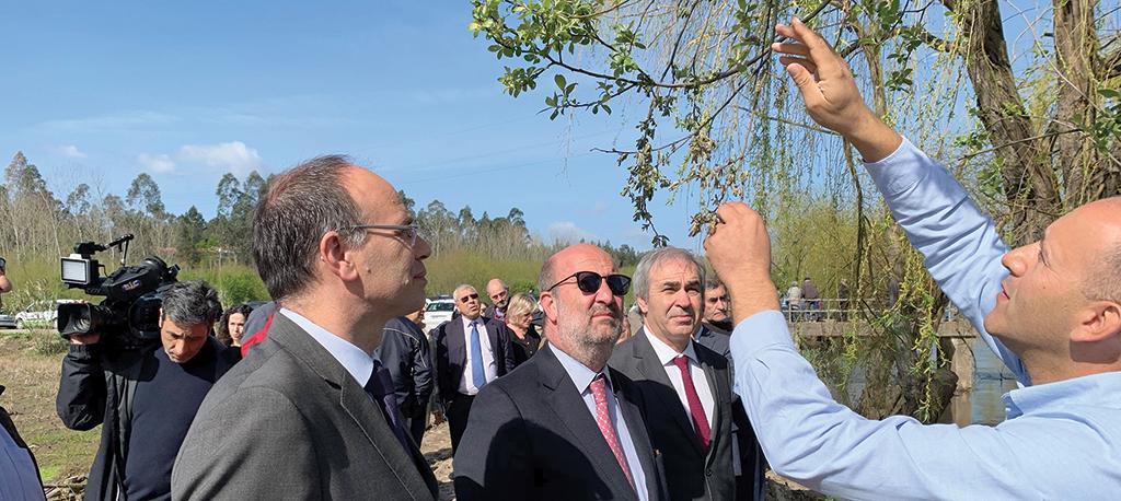 Rio Cértima: Ministro do Ambiente satisfeito com ação das autarquias
