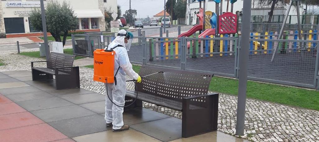 COVID-19: Oliveira do Bairro já iniciou trabalhos de desinfeção nas ruas