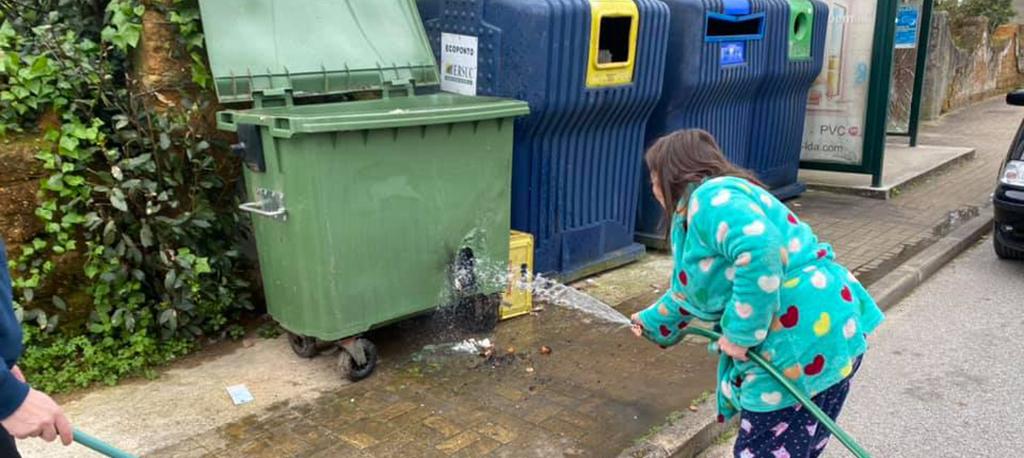 Águeda: Ecopontos e caixotes do lixo incendiados em várias freguesias