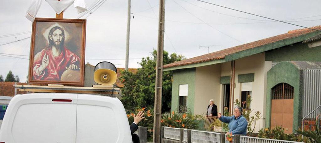 Jesus Cristo Salvador do Mundo circulou em três freguesias de Vagos