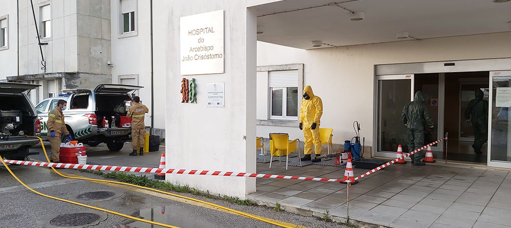 Proteção Civil de Cantanhede coordena descontaminação do Hospital