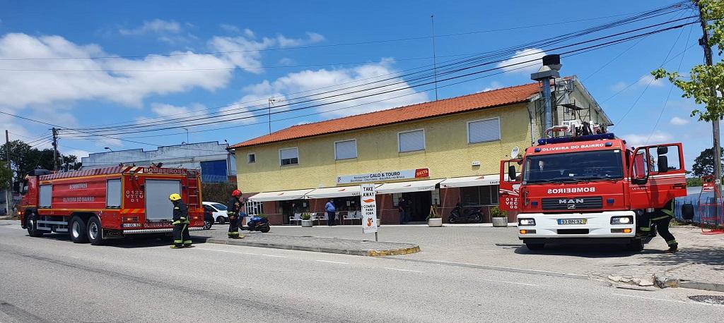 Incêndio em chaminé de restaurante de Oliveira do Bairro