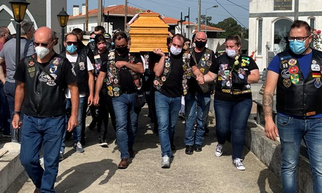 Oiã: Presidente do Oiacelera homenageado no funeral por largas dezenas de motards