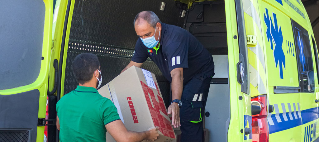Empresa RODI apoia o INEM com oferta de equipamento