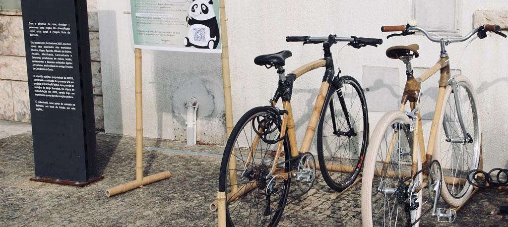 """Bicicletas de bambu em """"test-drive"""" na Rota da bairrada e no velódromo"""
