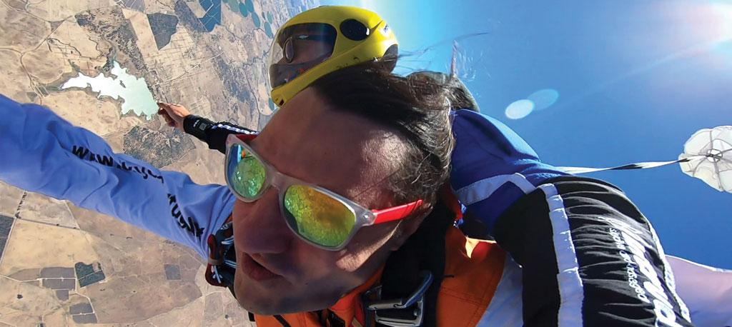 Jhony Martins quer ser o primeiro paraplégico paraquedista da Península Ibérica