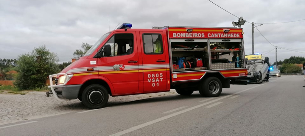 Cantanhede: Capotamento de veículo faz um ferido ligeiro em Cadima